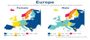 Incidenza del Melanoma in Europa